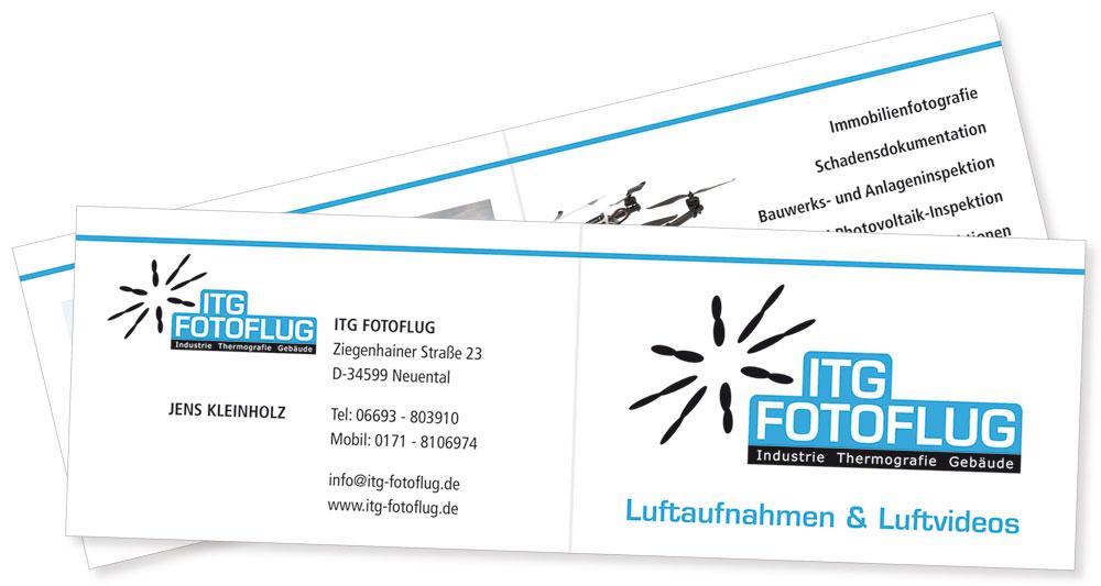 Gestaltung Visitenkarte ITG Fotoflug