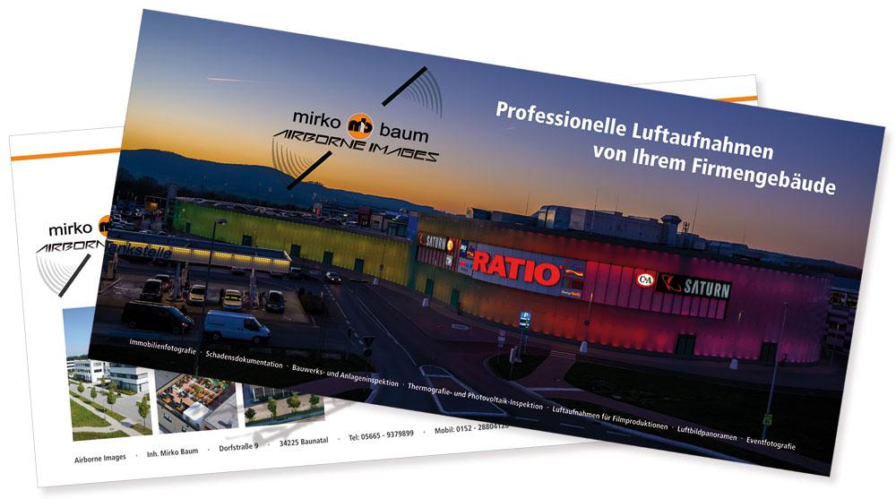 Gestaltung Postkarte Airborne Images