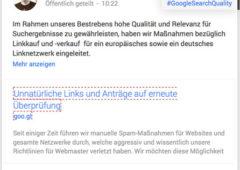 Google Abstrafung unnatürliche Links