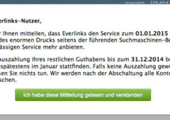 Everlinks.net schließt