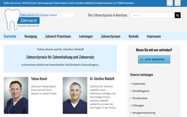 Zahnarzt Homepage