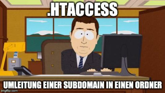 Umleitung mit htaccess - Subdomain auf Unterordner