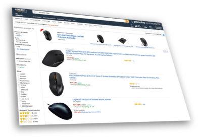 Amazon Screenshot: Ohne Produktbilder hat man in den Rankings keine Chance gegen Mitbewerber.